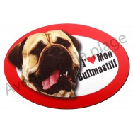 Magnet J'aime mon Bullmastiff
