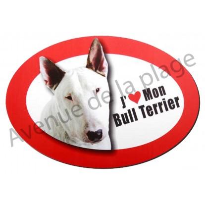 Magnet J'aime mon Bull Terrier