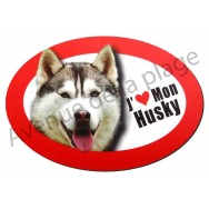 Magnet J'aime mon Husky