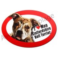 Magnet J'aime mon Staffordshire Bull Terrier