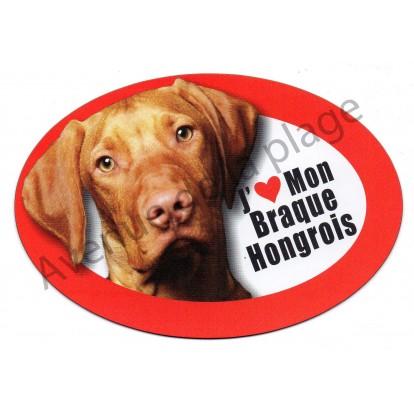 Magnet J'aime mon Braque Hongrois