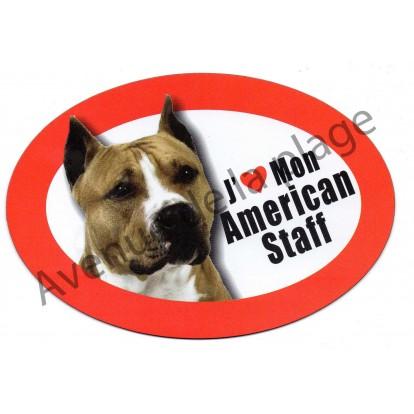 Magnet J'aime mon American Staff