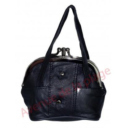 Porte monnaie sac à main noir