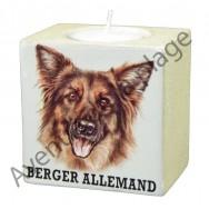 Bougeoir chien - Berger Allemand à poil long.