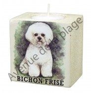 Bougeoir chien - Bichon Frisé