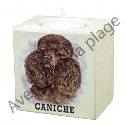 Bougeoir chien - Caniche