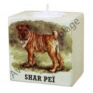 Bougeoir chien - Shar Peï