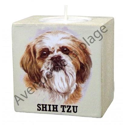 Bougeoir chien - Shih Tzu modèle A.