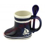 Mug avec cuillère botte de pêcheur