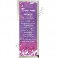 "Miroir message ""Toi ma Soeur"""