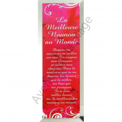 """Miroir message """"La Meilleure Nounou au Monde"""""""