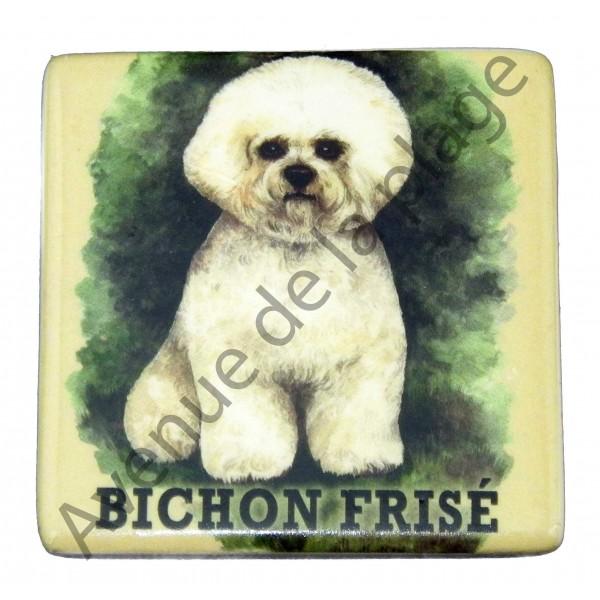 magnet chien bichon fris pas cher achat vente avenue de la plage. Black Bedroom Furniture Sets. Home Design Ideas