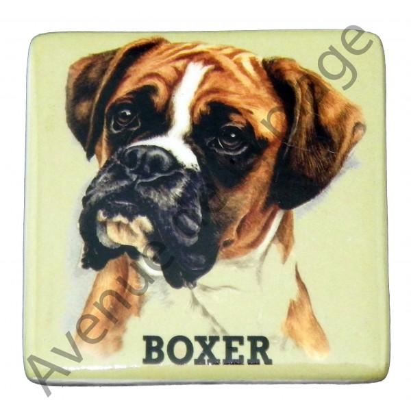magnet chien boxer pas cher achat vente avenue de la plage. Black Bedroom Furniture Sets. Home Design Ideas
