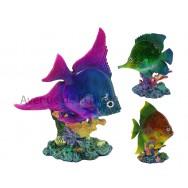 Statue poisson exotique 17 cm