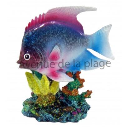 Statue poisson exotique 17 cm, modèle A.