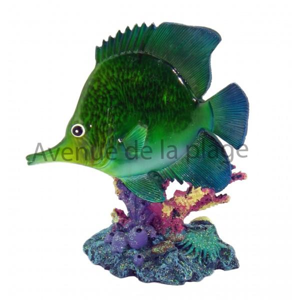 Statue poisson exotique 17 cm pas cher vente avenue de for Acheter poisson