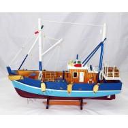 Maquette bateau de pêche aux casiers 45 cm