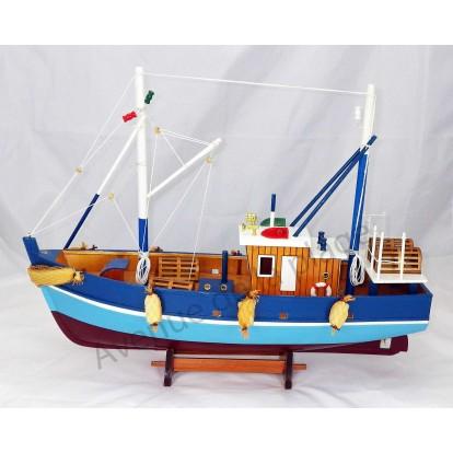 maquette bateau de p che aux casiers 45 cm avenue de la plage. Black Bedroom Furniture Sets. Home Design Ideas