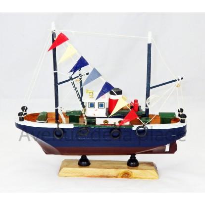 Maquette chalutier pêcheur 30 cm modèle G.