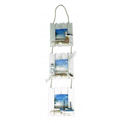 Triptyque cadres photos paysage marin, décoration bord de mer.