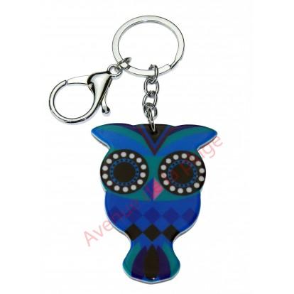 Porte clés Hibou - Chouette, modèle A.