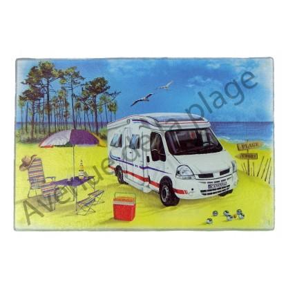Planche à découper : Camping car