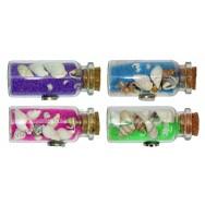 Magnet bouteille de sable et coquillages