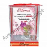 Figurine sentiments ourson Maman