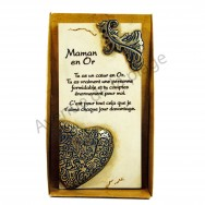 "Plaque message ""Maman en Or"""