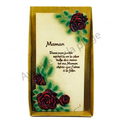 "Plaque message ""Maman"""