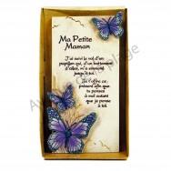 "Plaque message ""Ma Petite Maman"""