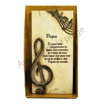 """Plaque message """"Mon Papa"""""""