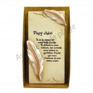 """Plaque message """"Papy chéri"""""""