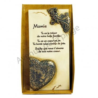 """Plaque message """"Mamie"""""""