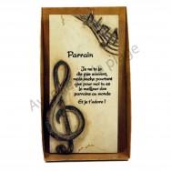 """Plaque message """"Parrain"""""""