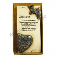 "Plaque message ""Marraine"""