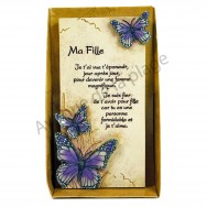 "Plaque message ""Ma Fille"""