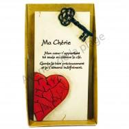 """Plaque message """"Ma Chérie"""""""