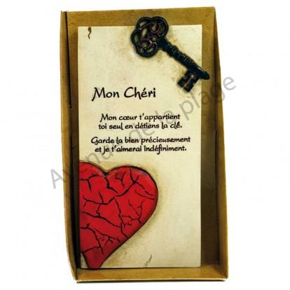 """Plaque message """"Mon Chéri"""""""