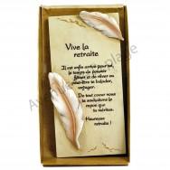 """Plaque message """"Vive la Retraite"""""""