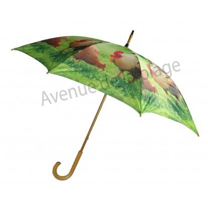 Parapluie animaux de la ferme : Poule et coq