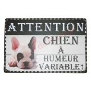 """Plaque humoristique """"Chien à humeur variable"""""""