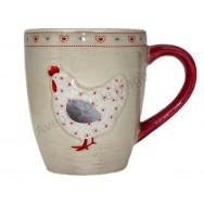 Tasse mug poule et coeurs