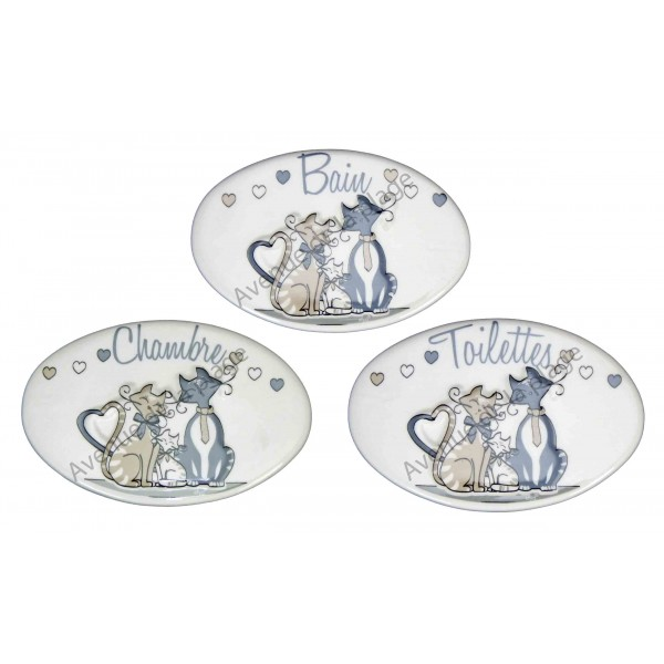 Plaque de porte famille chat pas cher vente avenue de for Plaque de porte decorative