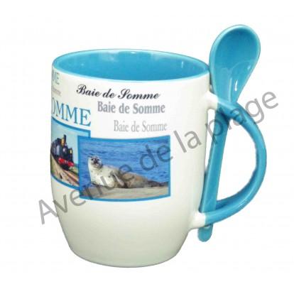 Mug avec cuillère Baie de Somme