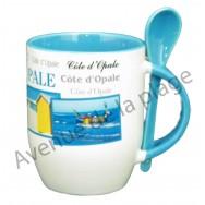 Mug avec cuillère Côte d'Opale