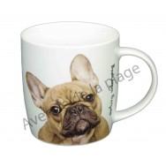 Mug chien Bouledogue Français marron