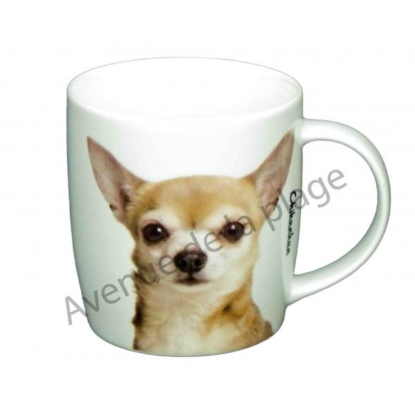 mug chien chihuahua pas cher achat vente avenue de la plage. Black Bedroom Furniture Sets. Home Design Ideas
