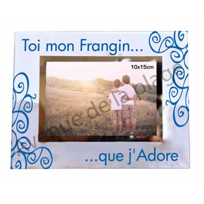 "Cadre photo frère ""Mon Frangin que j'adore"""