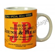 "Mug humoristique ""J&B - Jeune et Beau"""